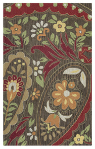 Rizzy Home Country CT0914 Multi-Colored Floral Area Rug