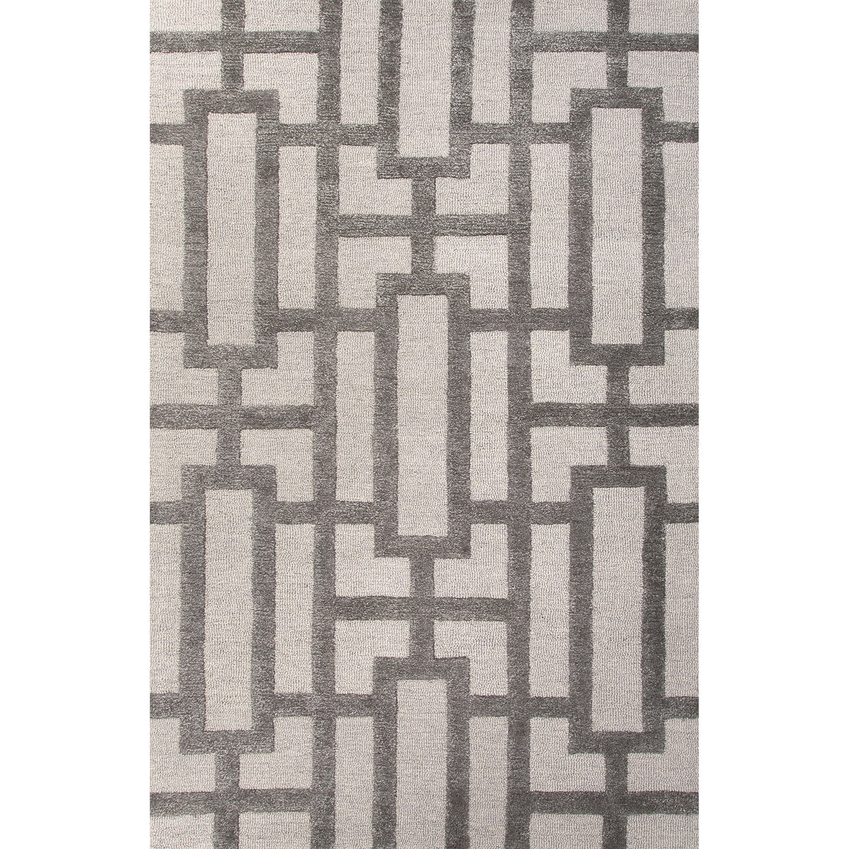 Jaipur Rugs Modern Geometric Pattern Ivory Gray Wool And