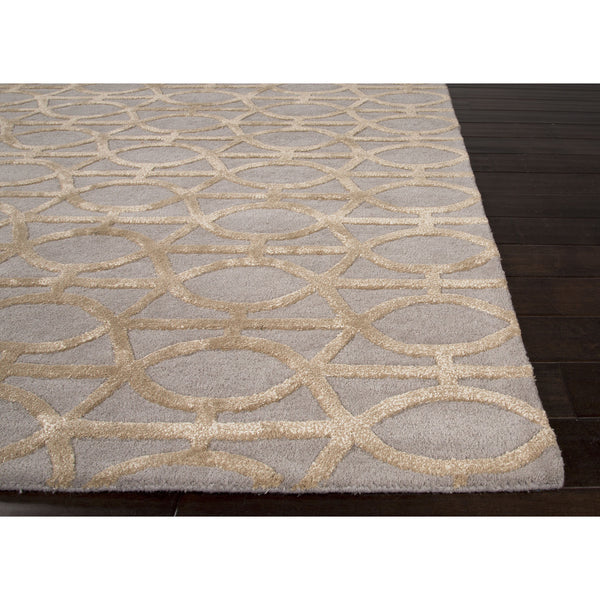 Jaipur Rugs Modern Geometric Pattern Gray Taupe Wool And
