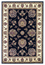 Load image into Gallery viewer, Kas Rugs Cambridge 7339 Black/Ivory Floral Mahal Area Rug