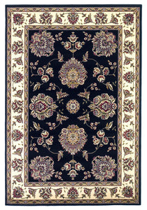 Kas Rugs Cambridge 7339 Black/Ivory Floral Mahal Area Rug