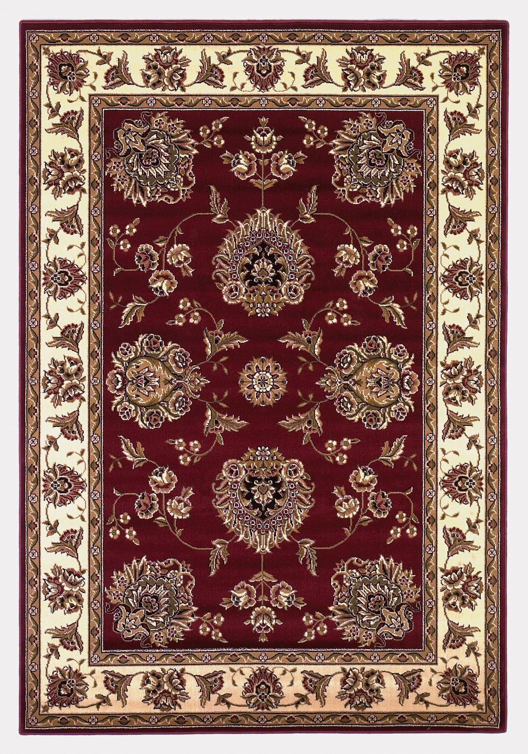 Kas Rugs Cambridge 7340 Red /Ivory Floral Mahal Area Rug