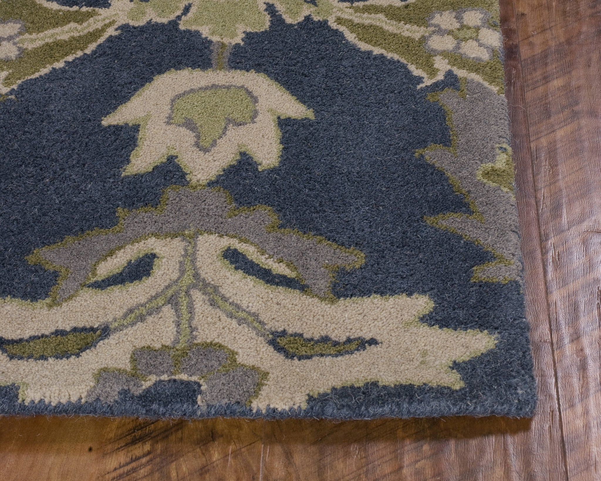 Kas Rugs Chelsea 2389 Slate Blue Delaney Area Rug Rugmethod