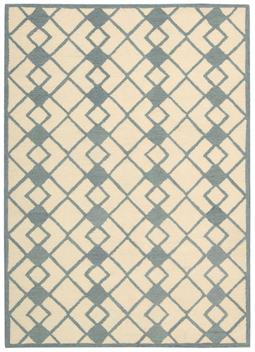 Nourison Decor Ivory Blue Area Rug DER03 IVBLU