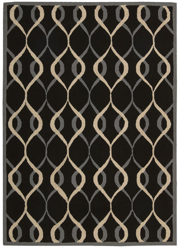 Nourison Decor Black Area Rug DER04 BLK