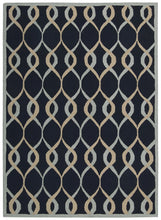 Load image into Gallery viewer, Nourison Decor Navy Area Rug DER04 NAV