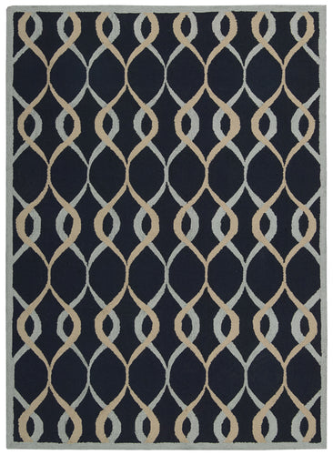 Nourison Decor Navy Area Rug DER04 NAV