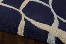 Load image into Gallery viewer, Nourison Decor Navy Area Rug DER04 NAV (Rectangle)
