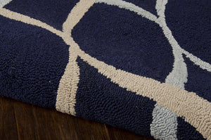 Nourison Decor Navy Area Rug DER04 NAV (Rectangle)