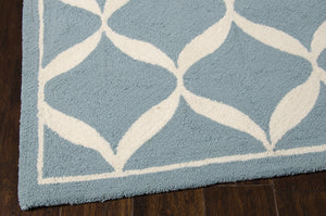 Nourison Decor Aqua White Area Rug DER06 AQUWT (Rectangle)
