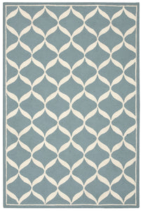 Nourison Decor Aqua White Area Rug DER06 AQUWT