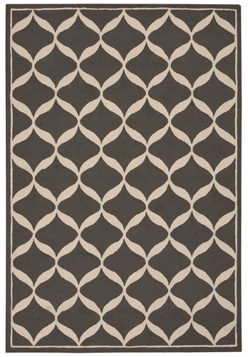 Nourison Decor Grey White Area Rug DER06 GRYWT