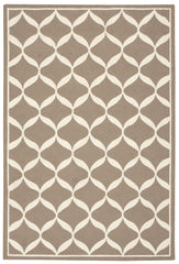 Nourison Decor Taupe White Area Rug DER06 TAUWT