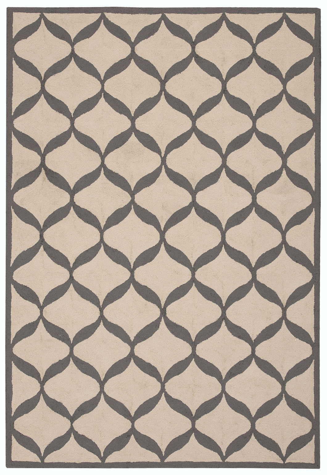 Nourison Decor White/Light Grey Area Rug DER06 WTLGY