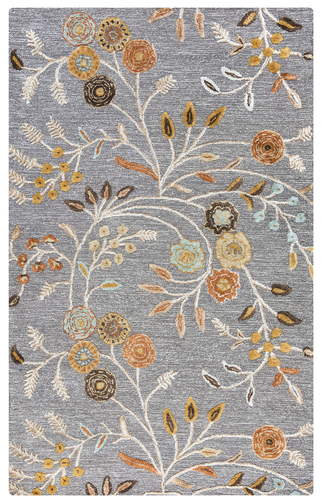Rizzy Home Eden Harbor EH8636 Gray Floral Area Rug