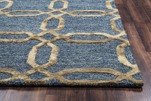 Rizzy Home Eden Harbor EH8812 Gold Geometric Area Rug