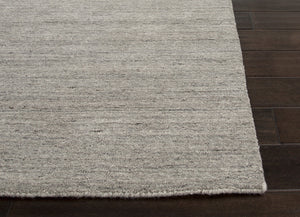 Jaipur Rugs Handloom Solid Pattern Gray/Ivory Wool Area Rug EL01 (Runner)
