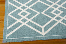 Load image into Gallery viewer, Nourison Enhance Turquoise Area Rug EN002 TUR (Rectangle)