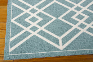 Nourison Enhance Turquoise Area Rug EN002 TUR (Rectangle)