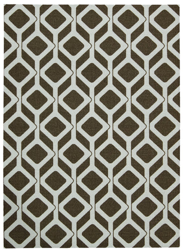 Nourison Enhance Chocolate Blue Area Rug EN003 CHOBL