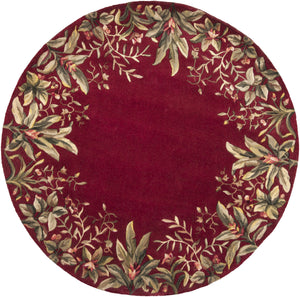 Kas Rugs Emerald 9017 Ruby Tropical Border Area Rug