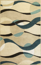 Load image into Gallery viewer, Kas Rugs Eternity 1093 Ivory/Blue Orbit Area Rug