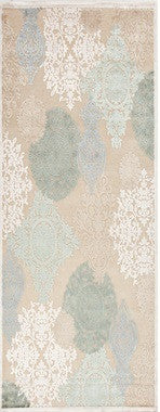 Jaipur Rugs Transitional Floral Pattern Ivory/Blue Rayon and Chenille Area Rug
