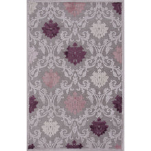 Load image into Gallery viewer, Jaipur Rugs Transitional Floral Pattern Gray/Purple Rayon and Chenille Area Rug