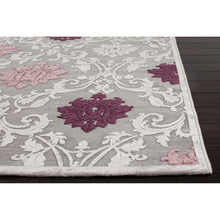 Load image into Gallery viewer, Jaipur Rugs Transitional Floral Pattern Gray/Purple Rayon and Chenille Area Rug FB26 (Rectangle)