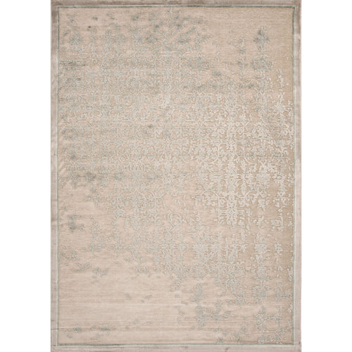 Jaipur Rugs Transitional Abstract Pattern Taupe/Green Rayon and Chenille Area Rug