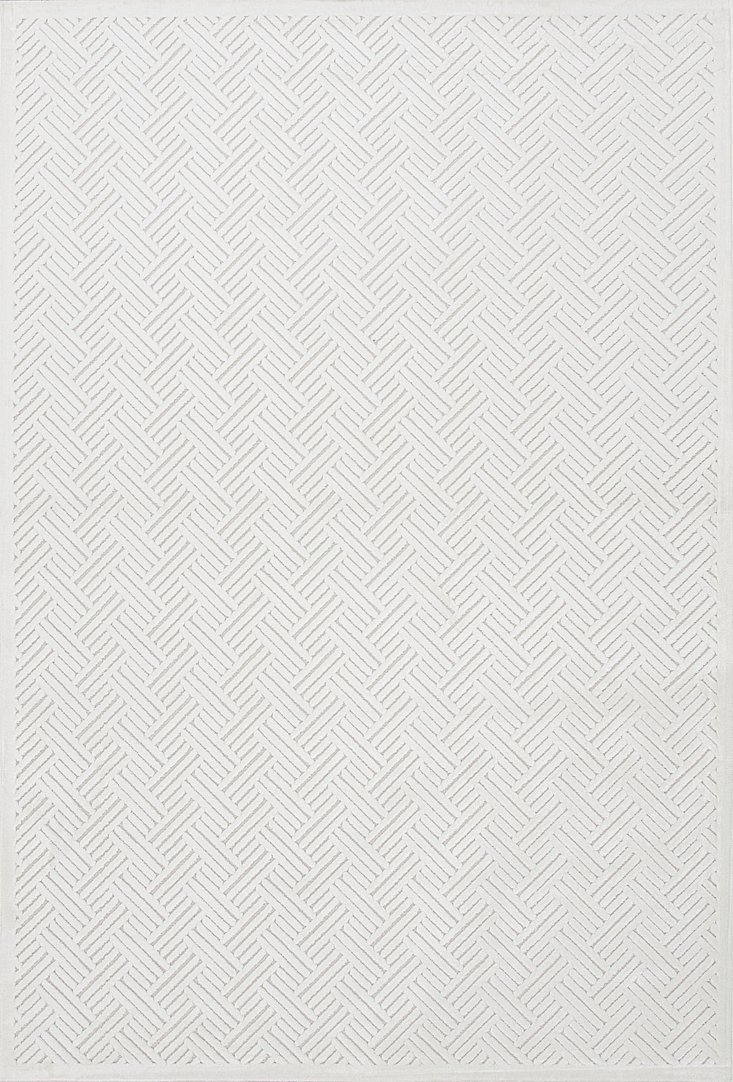 Jaipur Rugs Modern Geometric Pattern Ivory/White Rayon and Chenille Area Rug