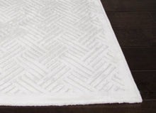 Load image into Gallery viewer, Jaipur Rugs Modern Geometric Pattern Ivory/White Rayon and Chenille Area Rug FB44 (Rectangle)