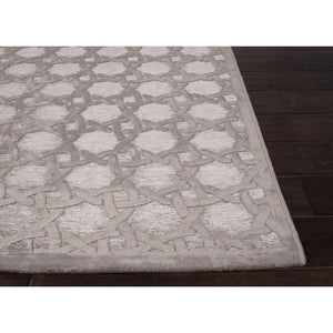 Jaipur Rugs Modern Geometric Pattern Gray Rayon and Chenille Area Rug FB46 (Rectangle)