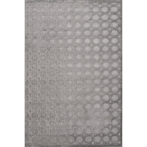 Jaipur Rugs Modern Geometric Pattern Gray Rayon and Chenille Area Rug