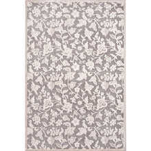 Load image into Gallery viewer, Jaipur Rugs Transitional Floral Pattern Gray/Ivory Rayon and Chenille Area Rug