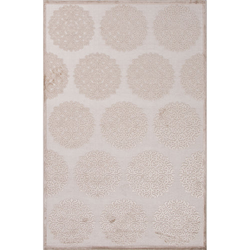 Jaipur Rugs Transitional Oriental Pattern Ivory/Taupe Rayon and Chenille Area Rug