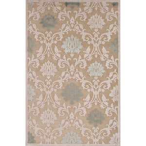 Jaipur Rugs Transitional Floral Pattern Ivory/White Rayon and Chenille Area Rug