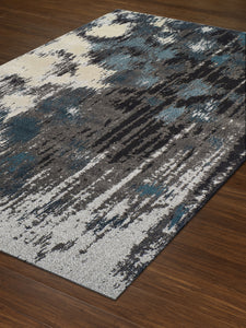 Dalyn Modern Greys Teal Mg81 Area Rug