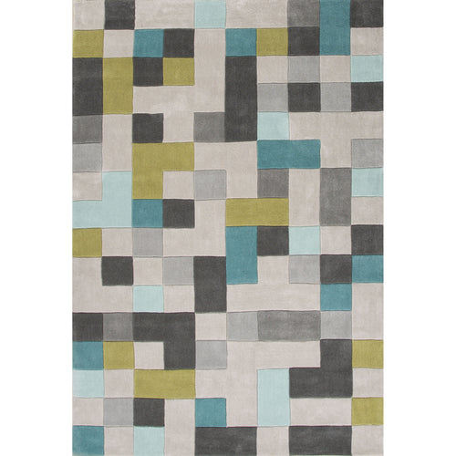 Jaipur Rugs Modern Geometric Pattern Gray/Blue Polyester Area Rug