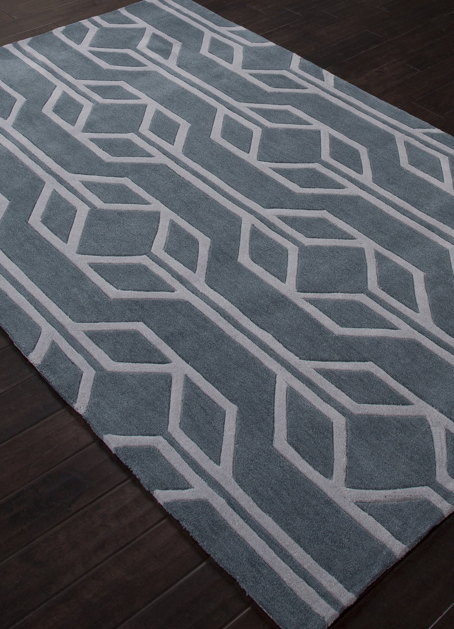 Jaipur Rugs Modern Geometric Pattern Blue Polyester Area