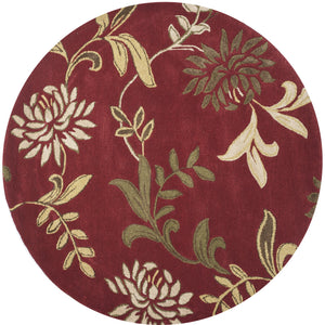 Kas Rugs Florence 4562 Red Floral Area Rug