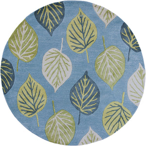 Kas Rugs Florence 4584 Ocean Blue Leaves Area Rug