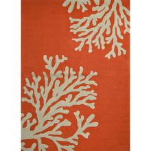 Load image into Gallery viewer, Jaipur Rugs Indoor-Outdoor Conversational Pattern Orange/Ivory Polypropylene Area Rug