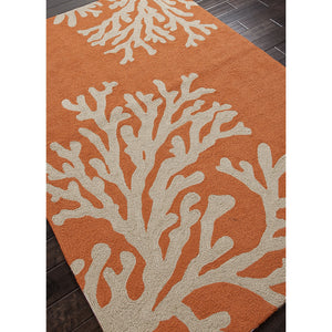 Jaipur Rugs IndoorOutdoor Conversational Pattern Orange/Ivory Polypropylene Area Rug GD01 (Rectangle)