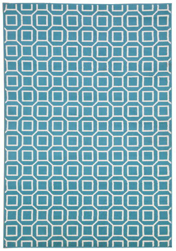 Rizzy Home Glendale GD7004 Blue/Aqua Geometric Area Rug