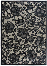 Load image into Gallery viewer, Nourison Graphic Illusions Pewter Area Rug GIL02 PEWTR