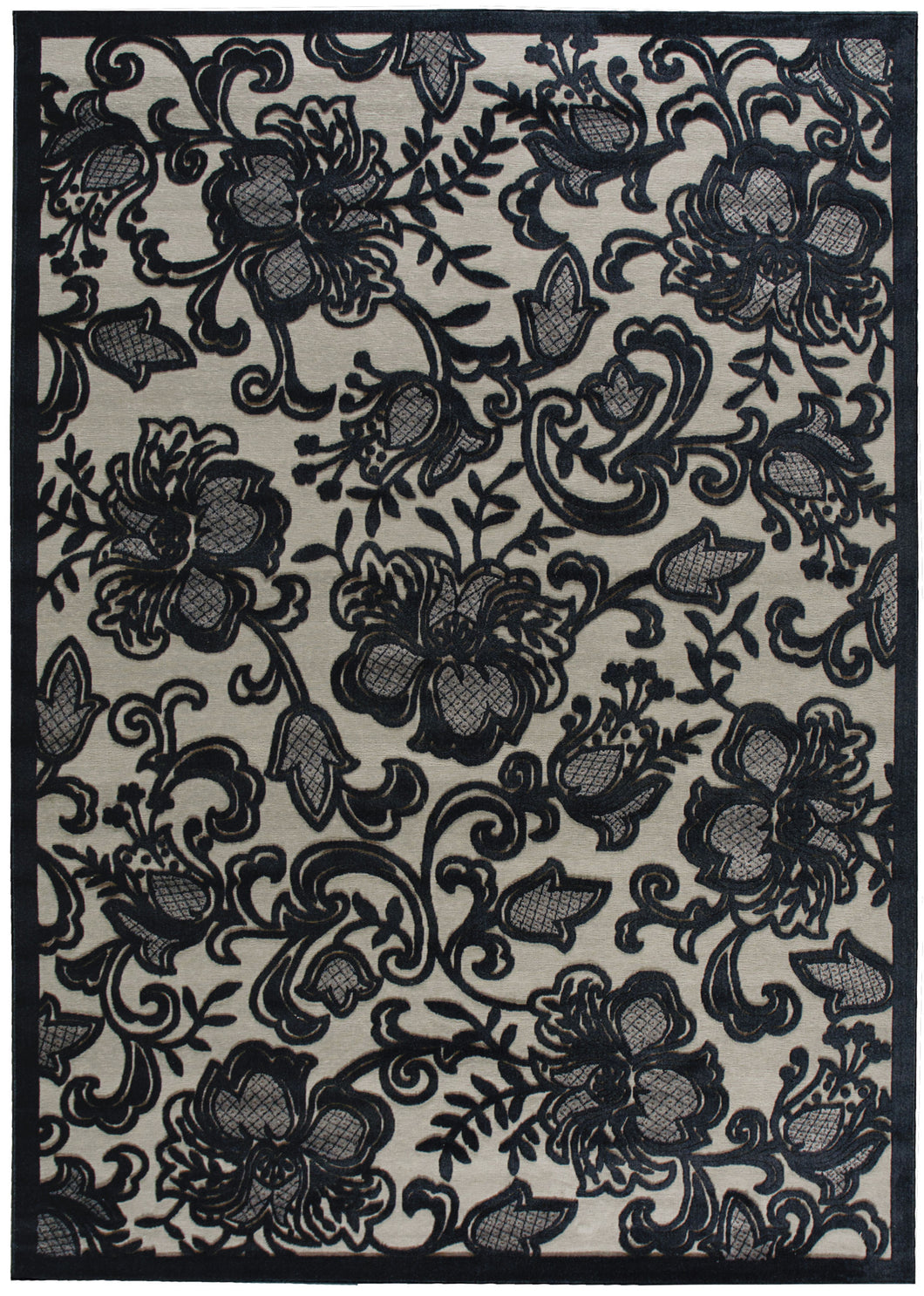 Nourison Graphic Illusions Pewter Area Rug GIL02 PEWTR