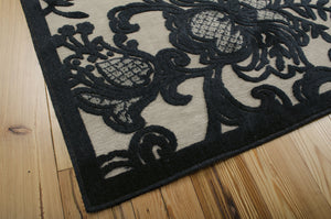 Nourison Graphic Illusions Pewter Area Rug GIL02 PEWTR (Rectangle)
