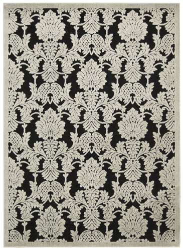 Nourison Graphic Illusions Black Area Rug GIL03 BLK