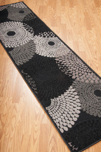 Nourison Graphic Illusions Black Area Rug GIL04 BLK (Runner)